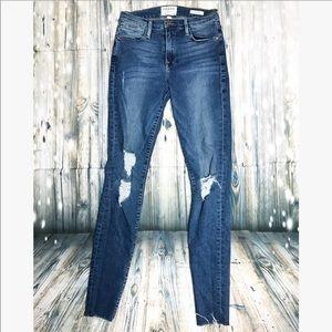 Frame Denim • Le High Skinny• distress jeans